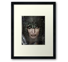 Who Can Stand-Female Warrior Framed Print