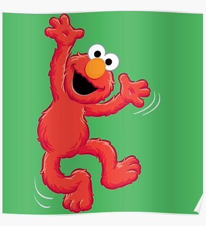 Elmo Happy Poster