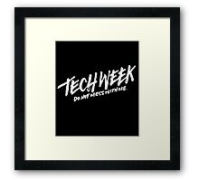 Tech Week (White Text) Framed Print