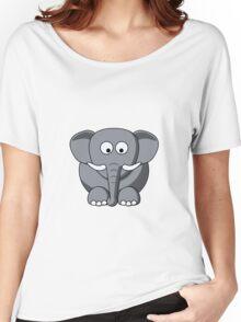 Cartoon Elephant Women's Relaxed Fit T-Shirt