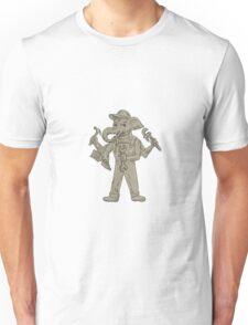 Ganesha Elephant Handyman Tools Drawing Unisex T-Shirt
