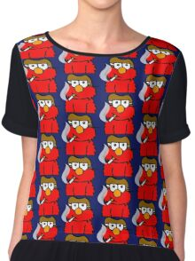 Elmo Smoking Chiffon Top