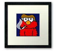Elmo Smoking Framed Print