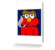 Elmo Smoking Greeting Card
