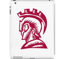 Spartan Warrior Helmet Woodcut iPad Case/Skin