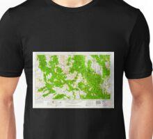 USGS TOPO Map Arizona AZ Prescott 315576 1954 250000 Unisex T-Shirt