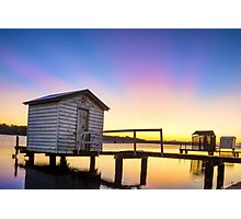 Boat Sheds Maroochydore Photographic Print