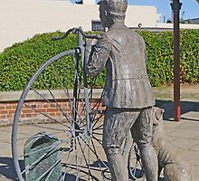 "Penny Farthing ""Time Traveller"" Statue by Graeme  Hyde"