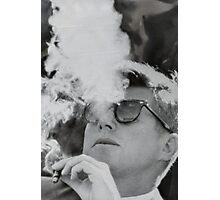 JFK Smoking Photographic Print