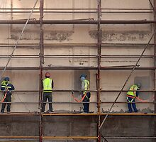 Working on scaffolding by awefaul