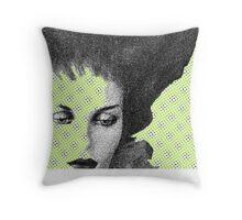 Modern Muse  (Facial Detail)  Throw Pillow