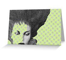Modern Muse  (Facial Detail)  Greeting Card
