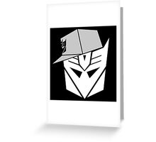 Decepticon Snapback for Darker Products Greeting Card