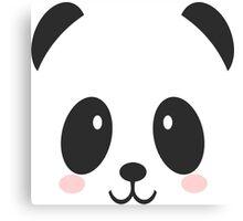 Face Panda Canvas Print