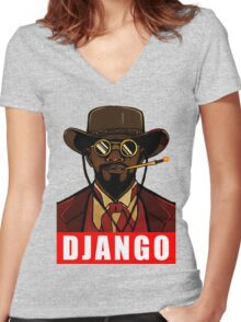 django Women's Fitted V-Neck T-Shirt