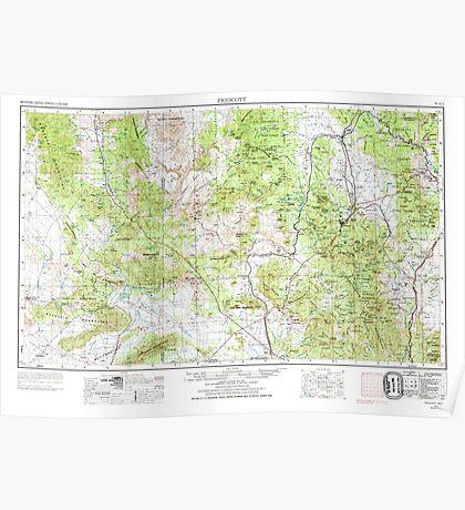 USGS TOPO Map Arizona AZ Prescott 315579 1954 250000 Poster