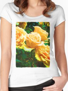 My Surreal Apricot Roses Women's Fitted Scoop T-Shirt
