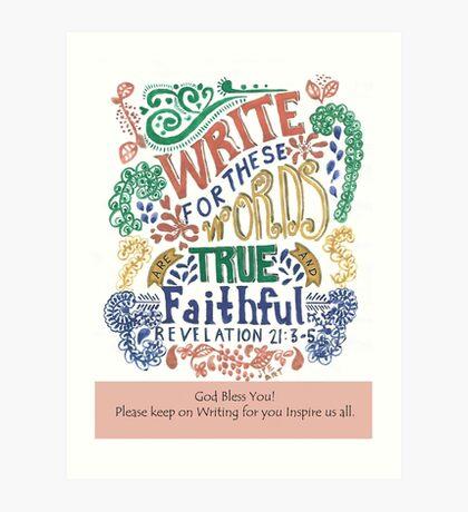Bible Verse for Writer Art Print