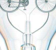 Light Bicycle Bulb Sticker