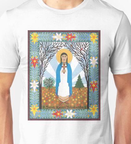 St. Kateri Tekakwitha Icon Unisex T-Shirt