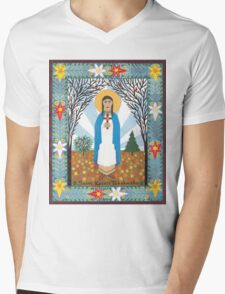 St. Kateri Tekakwitha Icon Mens V-Neck T-Shirt