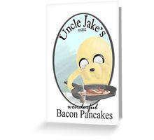 Uncle Jake's Bacon Pancakes Greeting Card