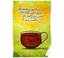 What my #Coffee says to me - Feb 24, 2014  Poster