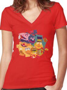 Sesame Street Women's Fitted V-Neck T-Shirt