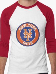 NEW YORK METS LOGO Men's Baseball ¾ T-Shirt