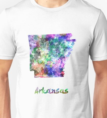 Arkansas US state in watercolor Unisex T-Shirt