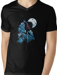 Theere Monster Cookies Mens V-Neck T-Shirt