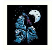 Theere Monster Cookies Art Print