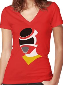 In Space Astro Ranger Women's Fitted V-Neck T-Shirt