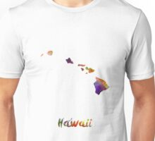 Hawaii US state in watercolor Unisex T-Shirt