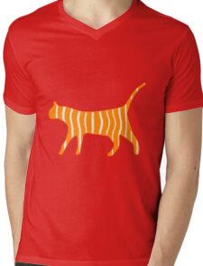 Tiger Cat Mens V-Neck T-Shirt