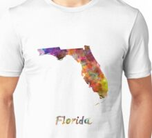 Florida US state in watercolor Unisex T-Shirt