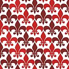 Red Flor De Lis by IamJane--