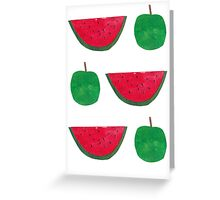 Apples & Watermelons! Greeting Card