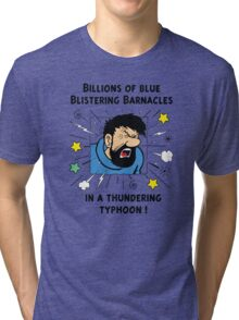 Captain Haddock - Blistering Barnacles Tri-blend T-Shirt
