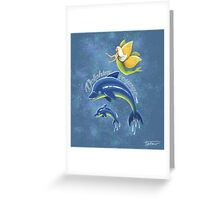 Dolphins voyage - acrylic painting Greeting Card