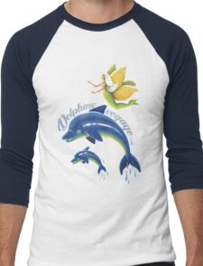Dolphins voyage - acrylic painting Men's Baseball ¾ T-Shirt