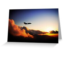 F35 Stealth Silhouette Greeting Card
