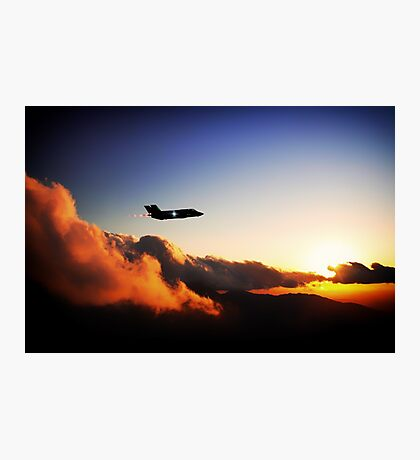 F35 Stealth Silhouette Photographic Print