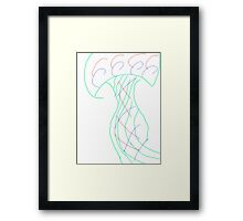 Scribble Tree Framed Print