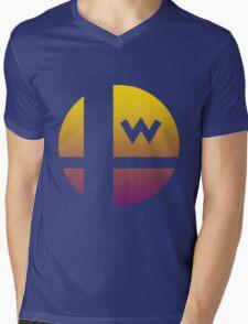 Super Smash Bros - Wario Mens V-Neck T-Shirt