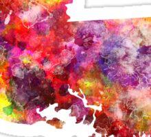 Louisiana US state in watercolor Sticker