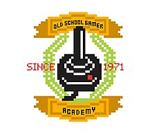 Old School Gamer Academy Photographic Print