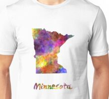 Minnesota US state in watercolor Unisex T-Shirt