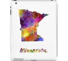 Minnesota US state in watercolor iPad Case/Skin