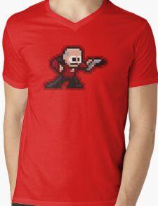 8-Bit STNG Capt Mens V-Neck T-Shirt